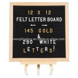 10X10 misura la scheda in pollici variabile nera della lettera del feltro con 340 lettere