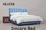 Кровать ткани спальни дома типа мебели американская