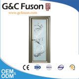Fabriqué en Chine en verre Salle de bains Portes battantes en aluminium