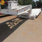 Welle60tons 3 hydraulischer Gooseneck-niedriger Bett-LKW-Schlussteil für Verkauf
