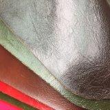 家具製造販売業のソファーの椅子の家具のための光沢のある光沢があるPUの革