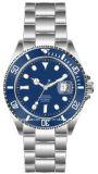Reloj de acero inoxidable Galss Zafiro los hombres de lujo ver