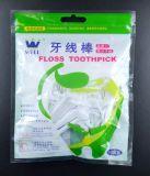 Soins oral individuel en plastique blanc de la soie dentaire Wholsale Pick Chine