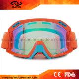 流行TPUフレームの反紫外線コーティングレンズのモトクロスのスキーゴーグル