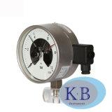 304 de haute qualité 63mm 75mm 100mm basse en acier inoxydable de fixation de jauge de pression de contact électrique