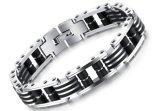 De Juwelen van het Roestvrij staal van de Armbanden van de Armband van de Ketting van de Motorfiets van de Ketting van de Fiets van de Motor van de hoogste Mensen van de Kwaliteit met Silicone