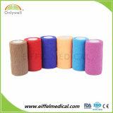 Fasciatura coesiva colorata esterna di sport di alta qualità con materiale non tessuto