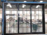 Puerta de cristal esmaltada doble/diseño de aluminio de las parrillas de Windows y de puerta con las persianas del interior