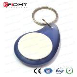 13.56MHz key fob ABS F08 de proximidade RFID via rádio de Controle de Acesso