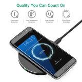 10W Cargador rápido de carga inalámbrica Qi Pad para iPhone 8/8 Plus y Smartphone de Samsung