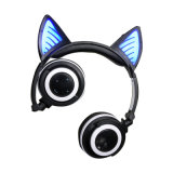 Cartoon Dobrável e Cat Ear Headset sem fio Bluetooth estéreo com microfone