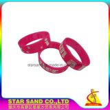 Le bracelet chaud en caoutchouc de silicones de modèle, façonnent le bracelet fait sur commande coloré de silicium