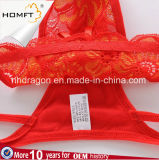 Mutandine basse sexy calde della G-Stringa delle donne della cinghia del merletto del ricamo della vita 3D