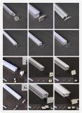 주문을 받아서 만들어진 LED 지구 알루미늄 단면도 각 구석에 의하여 거치되는 알루미늄 주거 호리호리한 선형 단면도
