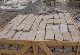 Pedra de pedra do lancil da pedra de pavimentação dos cubos amarelos enevoados de China