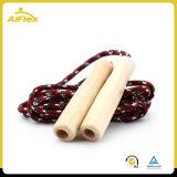 Leichtes Sprung-Seil mit federgelagerten hölzernen Griffen