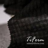 Schwarzes Plaid-Polyester-Rayon-Gewebe für Sommer