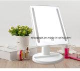 Espejo encendido del maquillaje, espejo de vanidad natural de la luz blanca del LED con el espejo del punto de la ampliación 10X de los 3.5in, espejo portable con la batería Esg10283 del USB