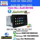 8818g 2 van DIN kan de AutoGPS van de Speler van 7.1 Auto DVD van Audi van het Spel Auto van de Van verschillende media WiFi van WiFi A8 S8 Androïde Auto Stereo dubbel-DIN-Naviradio van de Navigatie/voor Audi Tt per bus vervoeren