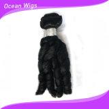 Trame brésilienne de cheveu d'enroulement de Remy Fumi de Vierge d'être humain du prix usine bon marché 100% (FC-028d)