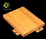 El techo de madera de aluminio del grano del diseño arquitectónico de Guangzhou Auspoll embaldosa los paneles de pared de madera del hogar de la fabricación
