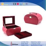 Cuero de color personalizados de Bisutería adornos Organizador de la caja de almacenamiento de la caja (6755)