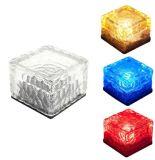 태양 강화된 유리 LED 태양 얼음 벽돌 지하 빛