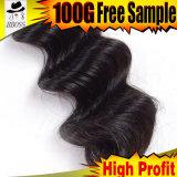 Cheveu indien R-U de la Vierge crue la plus de haute qualité