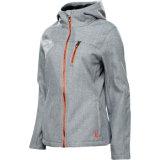 Серый меланж 4 способ оттяните ткань кабального флис куртки ткань для куртка