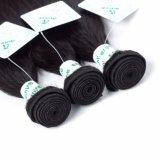 ブラジルのバージンのRemyの毛の織り方の倍は人間の毛髪の膚触りがよくまっすぐな織り方を浸す