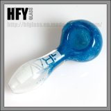 Американская белизна цвета с трубой голубой ложки лабораторий Grav табака кальяна оптовой продажи трубы руки стеклянной куря
