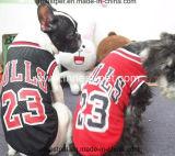 Roupa do Tshirt do cão do basquetebol do futebol da roupa da fonte do animal de estimação do produto do cão