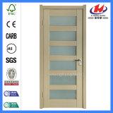 Frame interior porta laminada moldada HDF do PVC do folheado (JHK-S01)