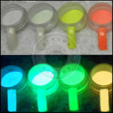 Lueur de poudre de phosphore dans le pigment luminescent de poudre foncée photoluminescent