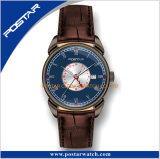 新しいデザインスイスの動きが付いている二重時間ステンレス鋼の腕時計