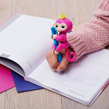 Rosa mit gelbes Haar-Fisch-Fallhammer-Haustier-elektronischem Spielzeug