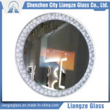 Verre à vitres plat personnalisé de miroir intelligent de salle de bains de 12mm