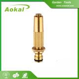 Bocal de bronze do jardim de alta pressão de bronze do bocal da mangueira do jato para o jardim