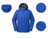 Revestimento azul de Softshell do poliéster do pára-brisas dos homens para o vestuário China do inverno