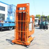 Mastros aéreos móveis triplicar-se da máquina desbastadora conservada em estoque para 4.5 M