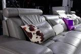 Mobilia del sofà del cuoio genuino del salone del divano