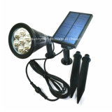 7 LED Iluminación decorativa al aire libre cambio de color de la luz de foco Solar Panel separado y de la luz