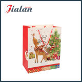 sacs de papier de empaquetage de cadeau d'achats faits sur commande de modèle de vacances de Noël 3D