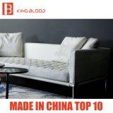 Mobilia di cuoio superiore italiana del sofà dello strato 3seater di Geniune di colore bianco per il salone