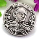 Antiguo hecho personalizado de moda mayorista dobles caras grabadas Réplica de la moneda de plata