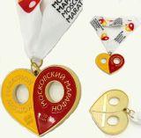 カスタマイズされた旧式な金の銀の銅のスポーツの金属メダル