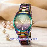 Wistwatch a personnalisé la montre de quartz d'acier inoxydable d'alliage (WY-G17003A)