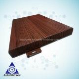 Le grain de bois d'aluminium panneau unique pour le revêtement de mur extérieur