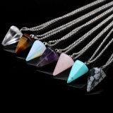 Hotsale Ebay de Piedra Natural Collar Colgante de Cristal Joyas