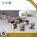 Poste de travail en aluminium en bois de portées de la structure 4 de meubles de bureau (HX-TN237)
